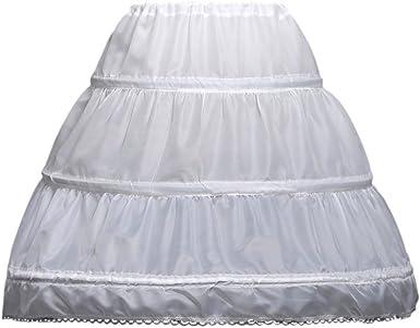 2-Layer Flower Girl Dress A-Line Formal Crinoline Petticoat Kids MINI Age 2-15 T