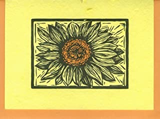 product image for Grow A Note® Woodcut Sunflower Letterpress Cards 4-pack