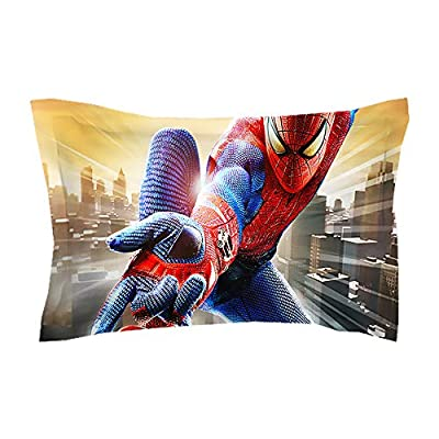 EVDAY 3D Spider Man Duvet Cover Set for Boys Bed Set Super Soft Microfiber Hero Design Kids Bedding 3Piece Including 1Duvet Cover,2Pillowcases Queen Size: Home & Kitchen