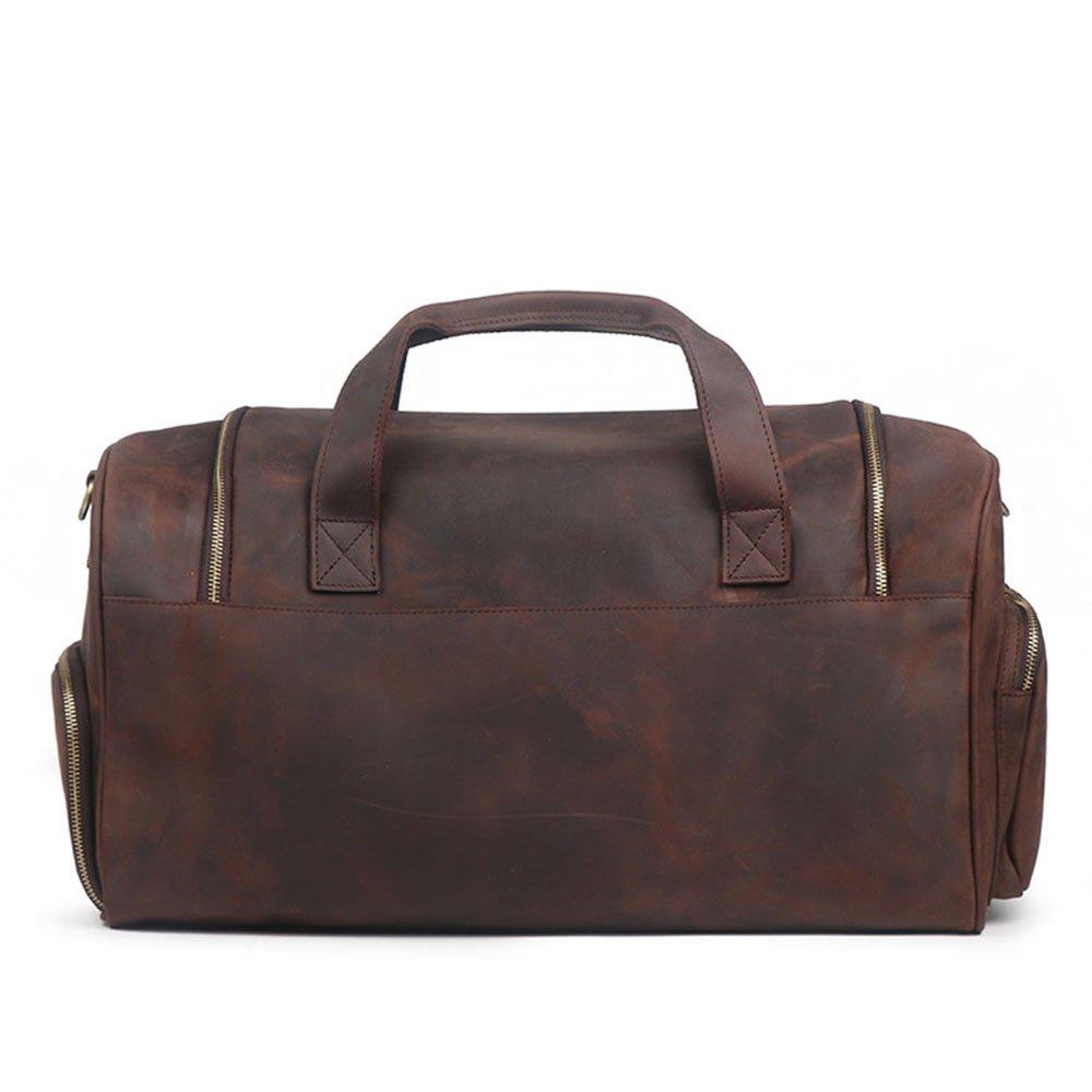 Yangjiaxuan Mens Sports Portable Luggage Bag Shoulder Diagonal Large-capacity Travel Bag Fitness Bag Color : Brown