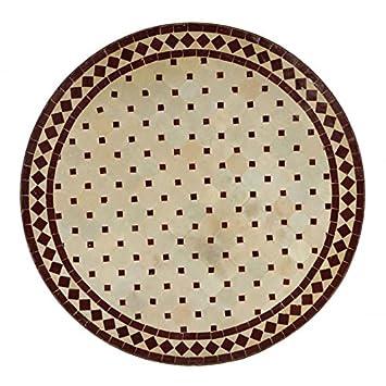 Table Ronde Zellige Mosaiques Fabrikation Artisanal 90cm Casa Moro
