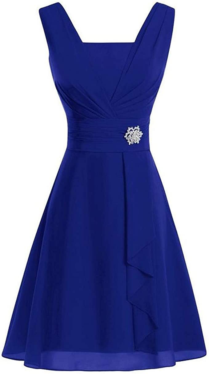 Aiserkly Damen Hochzeit Brautjungfer Kleid High-Taille Party Ball