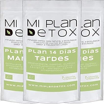 MI PLAN DETOX 14 días diurético· Té detox · Infusiones BIO ...