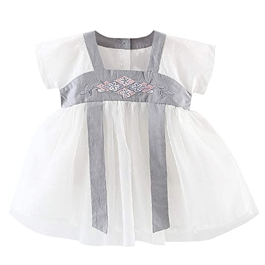 fcf34f72d2284 Amazon.com: Lurryly Kids Baby Girls Embroidered Costume Antiquity ...