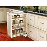 Rev-A-Shelf 432-BF-9C 432 Series 9″ Base Filler Pull Out Organizer with Adjustab, Natural Wood