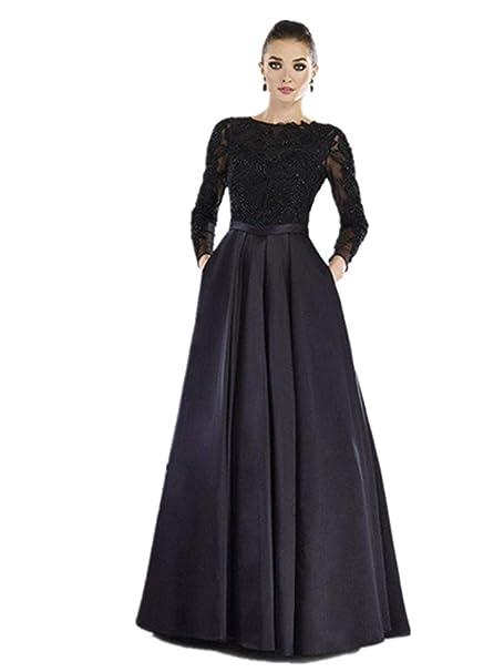 Amazon.com: Fenghuavip - Vestido largo de noche para mujer ...