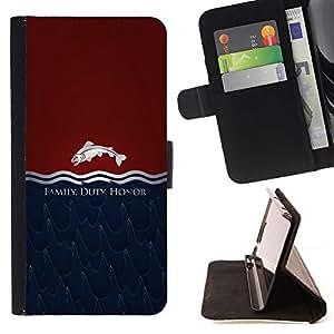 Momo Phone Case / Flip Funda de Cuero Case Cover - Familia Deber Honor Tully;;;;;;;; - Samsung Galaxy Core Prime