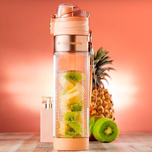 1bd421cb86 MAMI WATA Fruit Infuser Water Bottle – Beautiful gift box – Unique Stylish  Design - Free