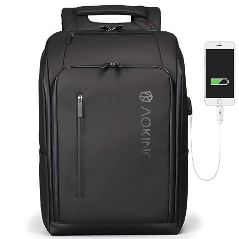 9538c384e146 Amazon.com  Dual Laptop Expandable Backpack USB Men Waterproof ...