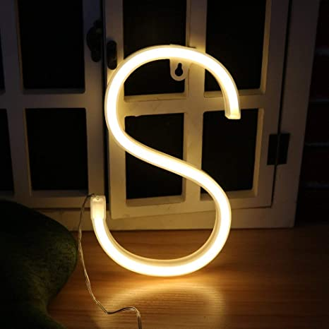 Amazon.com: Guocheng - Letra LED de neón, luces nocturnas ...