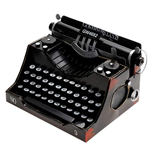Daptsy Retro Vintage Typewriter Model Without Functional Metal Decoration Literature and Art Style Home Crafts