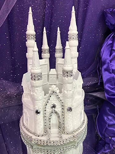 Amazoncom White Fairytale Castle Cake Top Cake Topper Decorated
