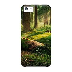 GunsRoses Scratch-free Phone Case For Iphone 5c- Retail Packaging - Enchanted Forest