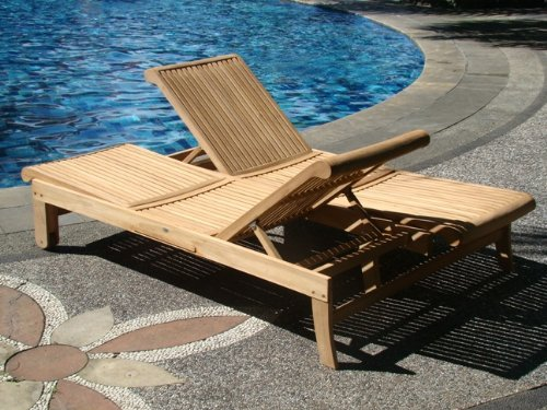 Wholesaleteak Grade A Teak Multi Position Sun Double Chaise Lounger Steamer With Slide Out Tray Furniture Only Giva Collection Whchgv2