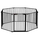 Bonnlo 197-Inch Wide Metal Configurable Baby Safety Gate 8 Panel Adjustable Play Yard