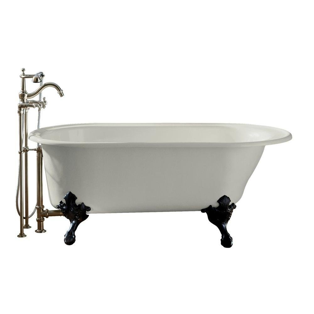 KOHLER K-710-W-0 Iron Works Historic Bath, White - Clawfoot Bathtubs ...