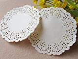 4.5 Inch White Round Hollow Lace Paper Pad Cakes Biscuits Pad Of Paper Disposable Paper Pad doilies (200Pcs)