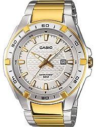 Casio Men's MTP1306SG-7AV Silver Stainless-Steel Quartz Watch with White Dial