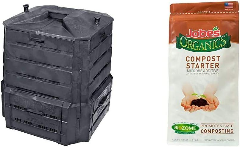 Algreen Products Soil Saver Classic Compost bin & Jobe's Organics Compost Starter, 4 lb