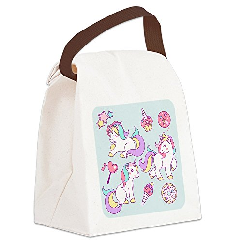(Canvas Lunch Bag Sweet Treat Unicorns)