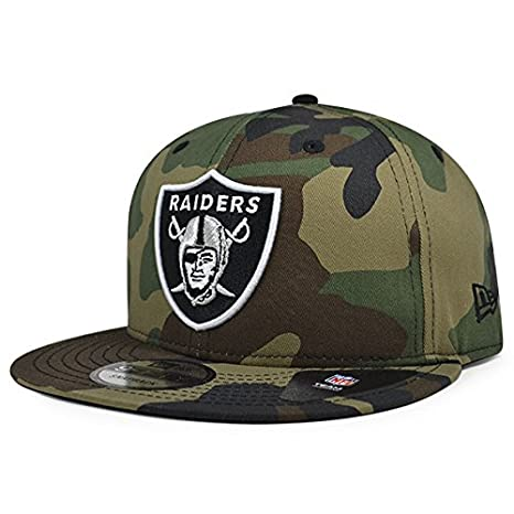 Image Unavailable. Image not available for. Color  Oakland Raiders New Era  NFL Woodland Camo 9Fifty Snapback Adjustable Hat fe1f3dd8587