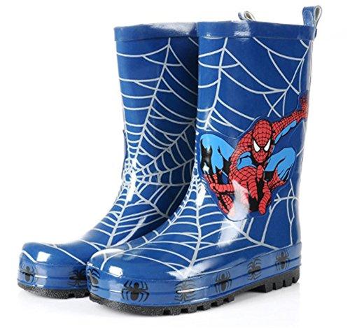 Spider-Man Boy Kids Wellington Boots Wellies Rain Boot (Toddler/Little Kid) (11M US Little Kid) Blue