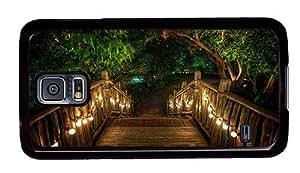 Hipster glitter Samsung Galaxy S5 Case Romantic Resort PC Black for Samsung S5