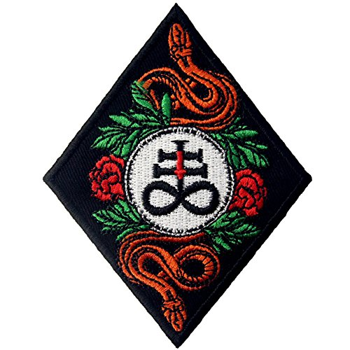 The Leviathan Cross Satan's Cross Patch Embroidered Applique Iron On Sew On Emblem