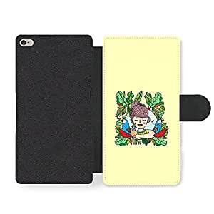 Cool Funny Girl in Summer Chill Out Fashion Design Faux Leather case for iPhone 6 Plus 6S Plus
