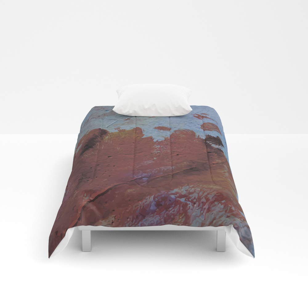 Society6 Comforter, Size Twin XL: 68'' x 92'', Grunge Wall Texture 4 by nessikk
