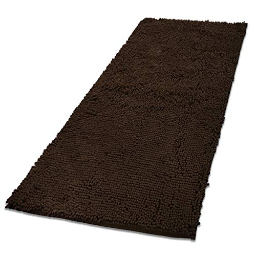MAYSHINE Absorbent Microfiber Chenille Door mat Runner for Front Inside Floor Doormats, Quick Drying, Washable-31x59 inch Brown