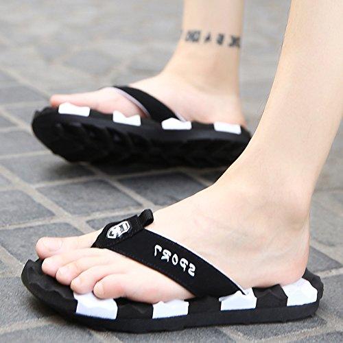 Xing Lin Sandalias De Hombre Zapatillas De Hombres, Grandes HombresS Extra Grandes Hombres Chill Y Torres black and white
