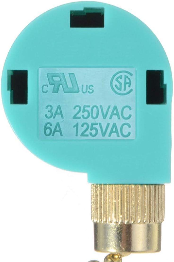 1 cable interruptor de control de cadena, 3 velocidades de 4 hilos, accesorios de luz, DIY ZE-268S6 interruptor con cremallera eléctrico para aplique de pared, ventilador de Techo, lámpara