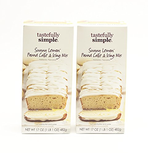 Tastefully Simple 2 Pack Sunny Lemon Pound Cake & Icing Mix by Tastefully Simple