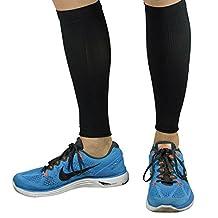 Calf Sleeves - #1 Compression Leg Sleeves for Runners - Men's and Women's Compression Shin Sleeves for Running, Walking, Marathons, Traveling, Tennis, Fitness - Relieve Shin Splints - Help Calf Cramping - Calf Guards