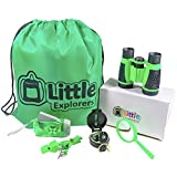Little Explorers Outdoor Exploration Kit Adventure Set for Kids | Premium Binoculars, Flashlight, Compass, Magnifying Glass, Whistle & Backpack. Great Gift Set for Camping, Hiking, and Exploring.