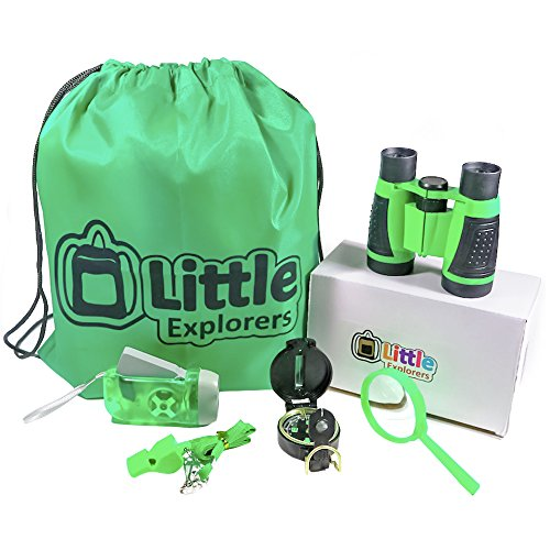 Little Explorers Outdoor Exploration Kit Adventure Set for Kids | Premium Binoculars, Flashlight, Compass, Magnifying Glass, Whistle & Backpack. Great Gift Set for Camping, Hiking, and Exploring. by Little Explorers