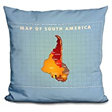 LiLiPi Upside Down South America Decorative Accent Throw Pillow