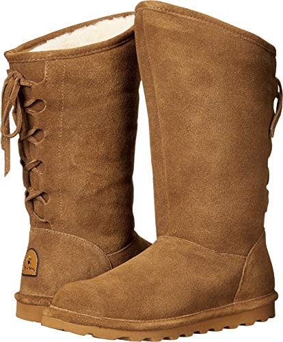 BEARPAW Womens Phylly Closed Toe Mid-Calf Cold Weather Boots, Hickory, Size 5.0 ()