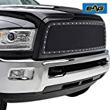 2015 ram grill - EAG Rivet Stainless Steel Wire Mesh Grille for 2013-2018 Dodge Ram 2500/3500