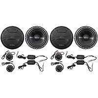 2-Pairs Hifonics ZS65C 6.5 400 Watt Component Car Audio Speakers