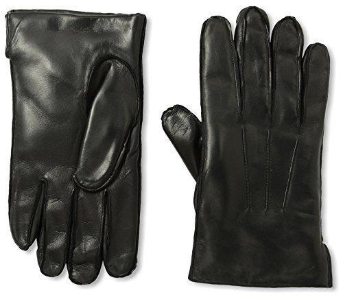 Portolano Men's 2LD9973 Cashmere Lined Nappa Gloves with Ship Stitch, Black, - Portolano Cashmere