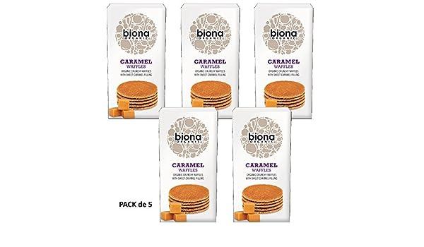 Biona Gofres de Sirope de Caramelo Sin Gluten Vegano 175g Pack de 5: Amazon.es: Alimentación y bebidas