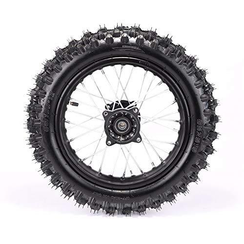 Rear 1.8512 80/100-12 Tire Rim Set Disc Brake 12mm Axle Pitpro Atomik DHZ by HML MOTOR (Image #4)