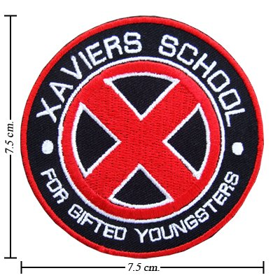 DIY Airsoft Patch Clothing Decor - X-Men Xaviers School Red Mutant Team Sign Logo Embroidered Iron 1pcs - Unique & Cool Badge Logo -- Cheap CLEARANCE STOCK Never Sale it (Airsoft Series)