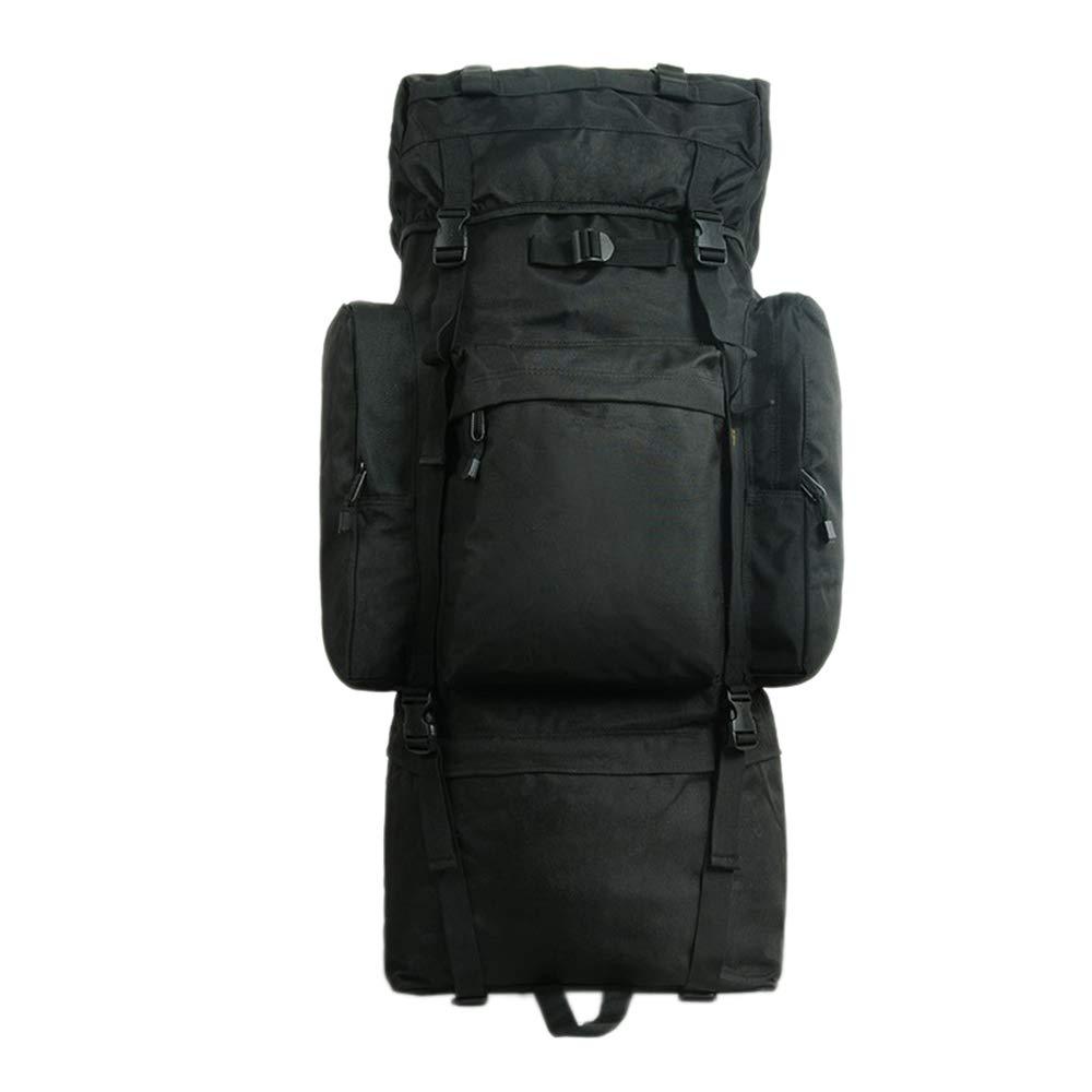 100Lアウトドアキャンプハイキングバッグ、男性と女性のバックパック旅行バッグ、大容量移動ダッフルバッグ、テントバッグ戦術的な山旅行バックパックZDDAB B07QS813CW Black