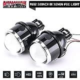 xenon universal fog lights - Universal 3.0 inch Waterproof Fog Lamp Bi-xenon Fog lights Projector Lens Hi/Low For Car Motorcycle