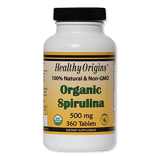 Healthy Orgins Organic and Kosher Spirulina Tablets, 500 mg, 360 count (Pack of 12) by Healthy Origins