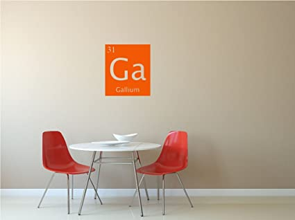 Amazon Gallium Ga Custom Periodic Table Of Elements Vinyl