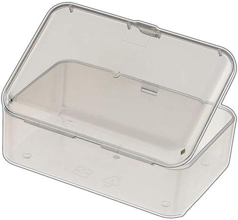 Flushzing 10pcs Multifuncional Rectangular de plástico Transparente la Caja de Piezas de la Herramienta de la Cubierta del Caso del almacenaje de contenedores: Amazon.es: Hogar